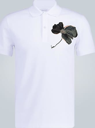 Alexander McQueen Besticktes Poloshirt aus Baumwolle