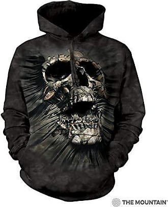 The Mountain Brkthrgh Skull Hsw Adult Hoodie, Black, XL