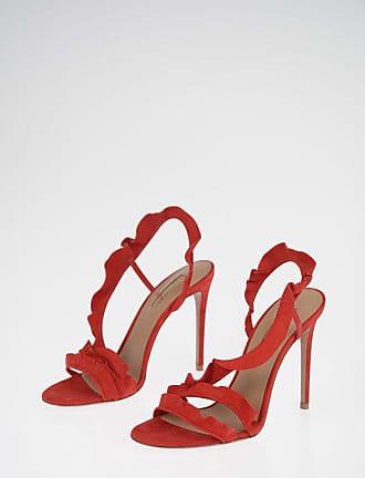 Aquazzura 11 cm Suede Leather RUFFLE 105 Sandals size 37,5