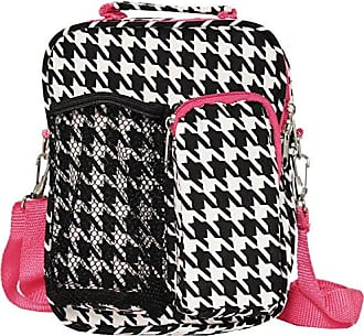 World Traveler 9 Inch Crossbody Day Pack, Fuchsia Trim Houndstooth, One Size