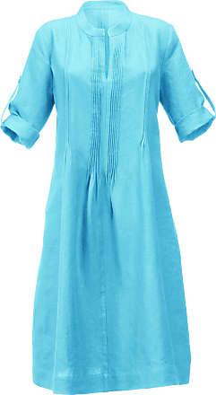 Anna Aura Dress in 100% linen Anna Aura turquoise
