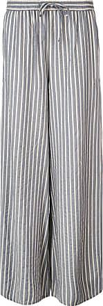 Onia chloe wide striped trousers - Blue