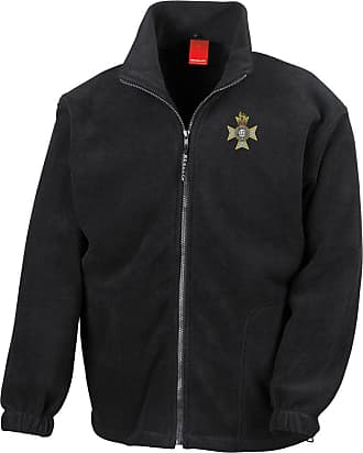Military Online The Light Dragoons Embroidered Logo - Official British Army Full Zip Heavyweight Fleece Jacket Black