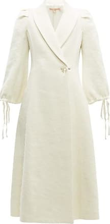 Brock Collection Padova Single-breasted Textured Wool-blend Coat - Womens - Cream