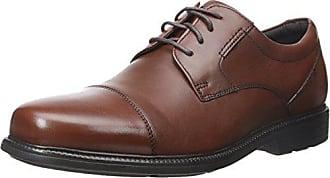 Rockport Mens Charles Road Cap Toe Oxford Tan II Leather 11.5 W (EE)-11.5 W