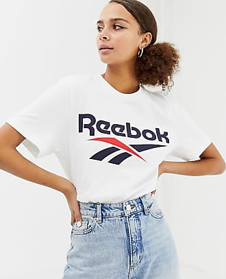 Reebok Camiseta blanca con el logo Vector Classics de Reebok c4e504a53a8b2