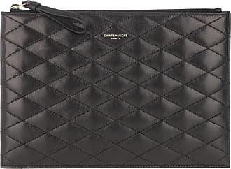 Saint Laurent Clutch - Handle Bag Leather Nero - black - Clutch for ladies