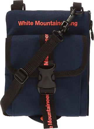 White Mountaineering Logo Shoulder Bag Mens Navy Blue
