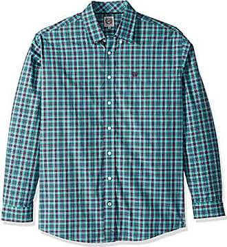 ae05565d60 Cinch Mens Classic Fit Long Sleeve Button One Open Pocket Plaid Shirt