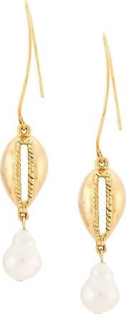 Oscar De La Renta Cowrie Shell earrings - Gold