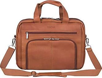 Kenneth Cole Reaction Kenneth Cole Reaction Manhattan Colombian Leather 15.6 Laptop Expandable RFID Business Portfolio, Cognac