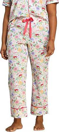 Lands End Gemusterte Pyjamahose in 7/8-Länge in großen Größen - Weiß - 56-58 von Lands End