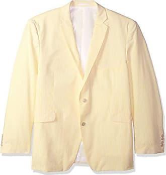 U.S.Polo Association Mens Big and Tall Seersucker Sport Coat, Yellow/White, 50 Regular