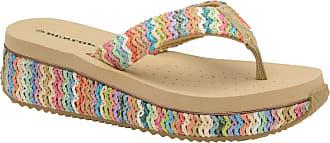 Dunlop Ladies Womens Slip On Toe Post Sandals Summer Shoes Memory Foam Sizes 3-8
