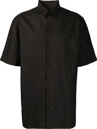 Raf Simons Camisa mangas curtas com estampa de logo - Preto