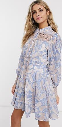 We Are Kindred Sorrento - Mini-Hemdkleid mit Paisley-Muster-Blau