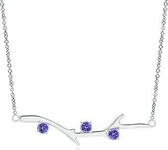 Angara Valentine Day Sale - Prong-Set Tanzanite Tree Branch Necklace