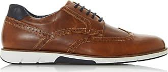 Dune London Dune Mens Brawl Lace Up Brogue Shoes Size UK 11 Tan Flat Heel Brogues