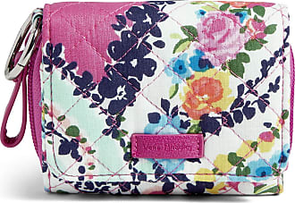 Vera Bradley Womens Iconic Signature Cotton RFID Card Case Wallet, Wildflower Paisley, One Size