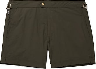 Tom Ford Slim-fit Mid-length Swim Shorts - Green