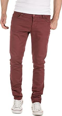Yazubi Chino Trousers for Men Pants Slim Fit Casual Simon Cotton Maroon Burgundy, Red Mahogany (191521), W33/L34