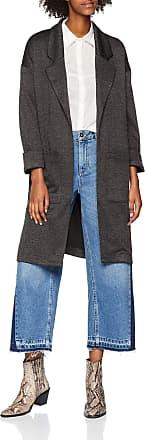 Pieces Womens Pcdorita 3/4 Coatigan Noos Coat, Grey (Dark Grey Melange Dark Grey Melange), 12 (Size: Medium)