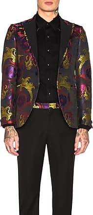 Versace Evening Jacket in Black,Paisley,Purple,Pink,Yellow