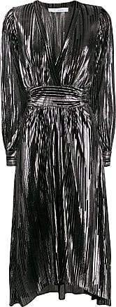 Iro metallic striped midi dress - Black