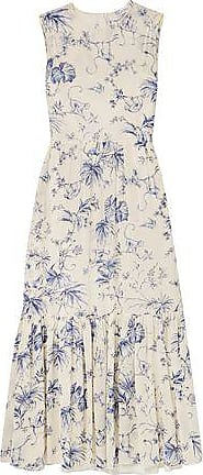 Red Valentino Redvalentino Woman Floral-print Silk-blend Georgette Midi Dress Ivory Size 40