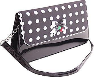 SugarShock Damen Polka Dots rockabilly Clutch Handtasche 148445424 Weinrot