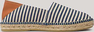 Hackett Mens Bengal Stripe Espadrilles | Size 42 | Navy/Ecru Beige