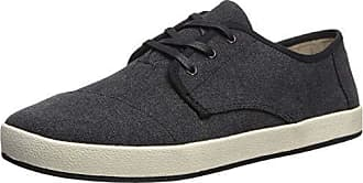 c5e6e3ddc96 Toms Mens Paseo Sneaker Black Washed Canvas 7.5 Medium US