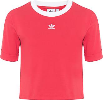 adidas Blusa Cropped - Vermelho