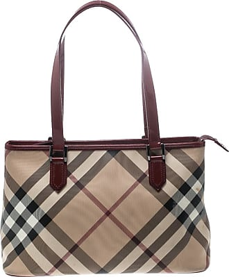 701cdd13e Burberry Beige/Red Supernova PVC and Patent Leather Small Nickie Tote