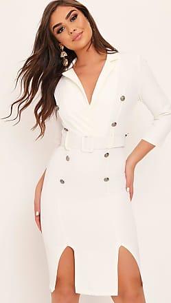 b5acfd9b05da I Saw It First White Button Detail Belted Midi Dress - XXL / WHITE