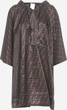 Fendi FF-motif nylon hooded poncho - FENDI - woman