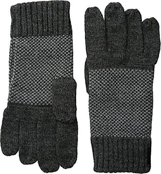 Calvin Klein Mens Birds Eye Back Glove with Touchscreen Technology, Charcoal, One Size