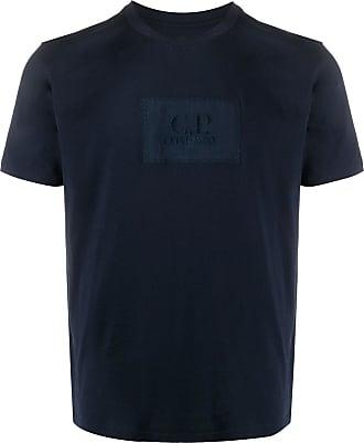 C.P. Company Camiseta com patch de logo - Azul
