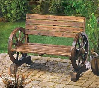 Zingz & Thingz Zingz and Thingz Wagon Wheel Bench