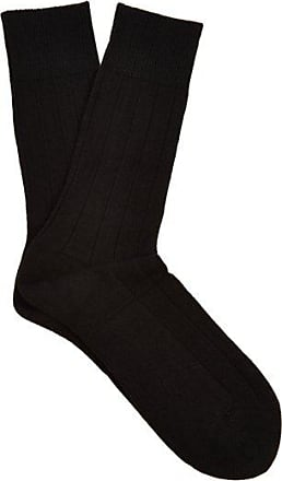 Falke Lhasa Wool And Cashmere-blend Socks - Mens - Black