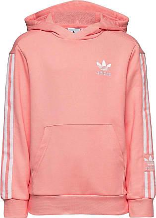 rosa adidas dress, ADIDAS W ESS LINEAR HOOD BLACK Dam,röd