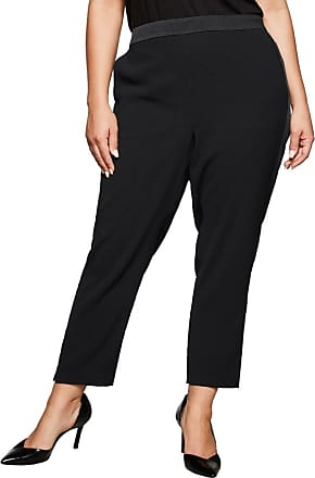 sheego elegante Hose Business-Hose Sommerhose Damen Dunkelrot Regular Fit SALE