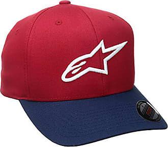 8fa105f2e8295 Alpinestars Mens Curved Bill Structured Crown Flex Back 3D Embroidered Logo Flexfit  Hat