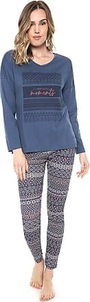 Pzama Pijama Pzama Estampado Azul