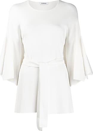P.A.R.O.S.H. tie waist tunic - White