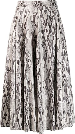 Msgm snakeskin print skirt - NEUTRALS