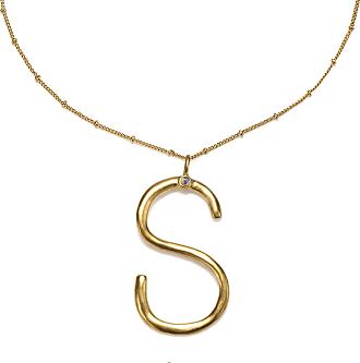 Sequin s Super Initial Talisman Necklace