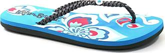 Urban Beach Ladies Nectar Petals Flip Flops Sandals FW571 (Size 6, Blue)