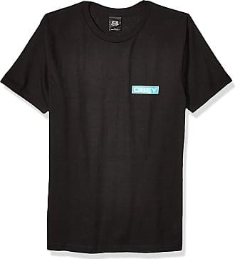 Obey Mens Depot 2 Basic TEE T-Shirt, Black, S