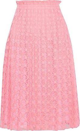 Philosophy di Lorenzo Serafini Philosophy Di Lorenzo Serafini Woman Pleated Crocheted Skirt Pink Size 40